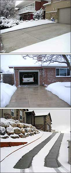 Residential electric heated driveways